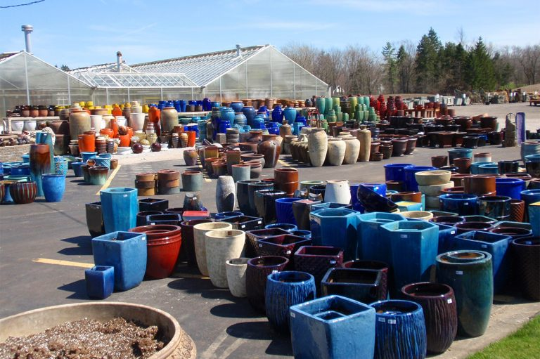 various assorted pots and containers at Bremec in Chesterland