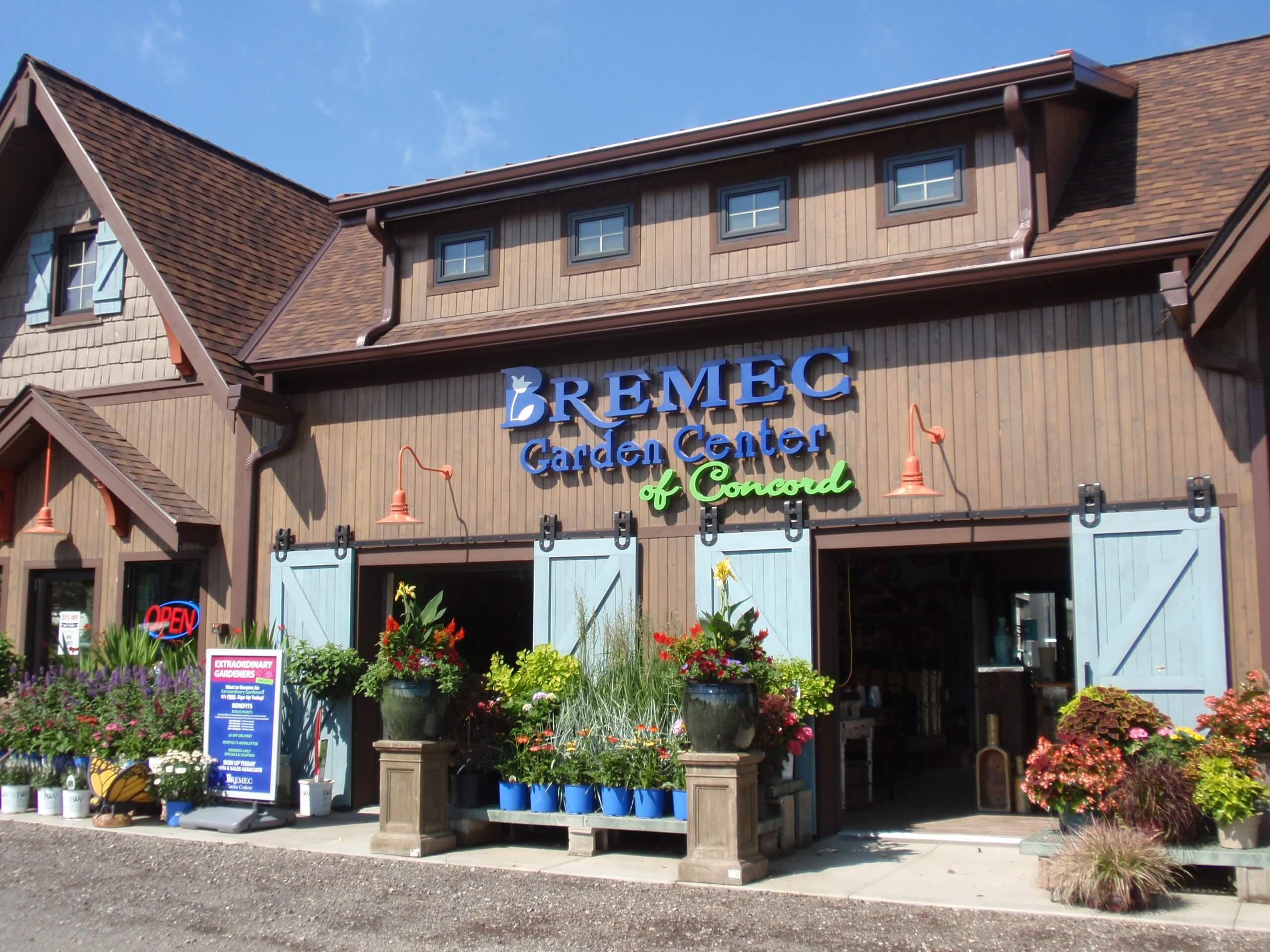 Bremec Garden Center of Concord building entrance
