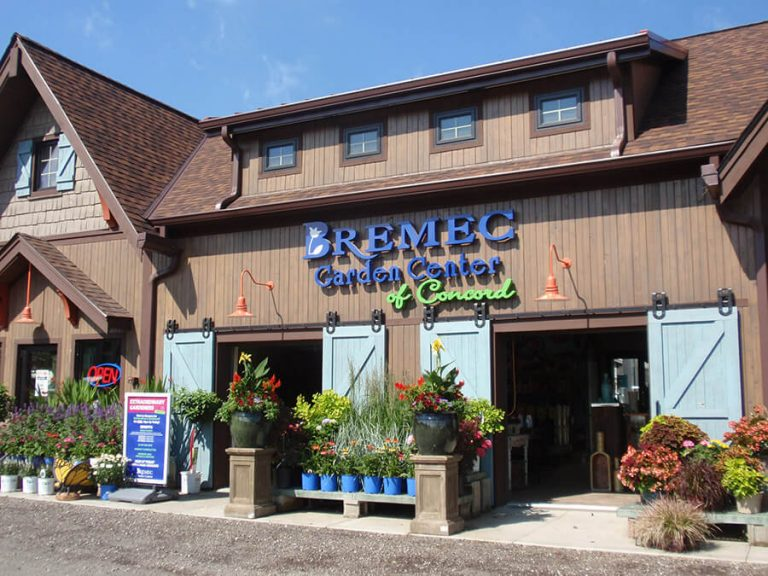 Bremec Garden Center of Concord building and front entrances