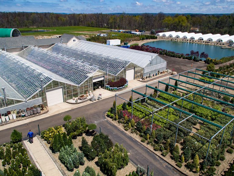 Bon Aerial View Of Bremec Garden Centers Greenhouses And Trees And Shrubs For  Sale