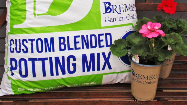 bag of Bremec Garden Center custom blended potting mix