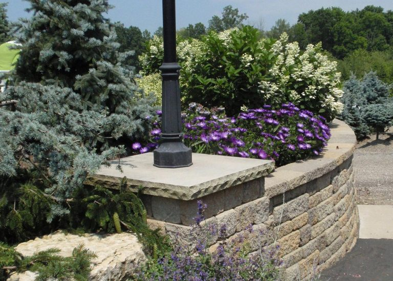stone wall for landscape designed by The Bremec Group