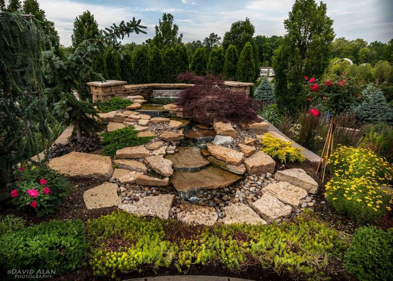 home waterscape feature designed by The Bremec Group