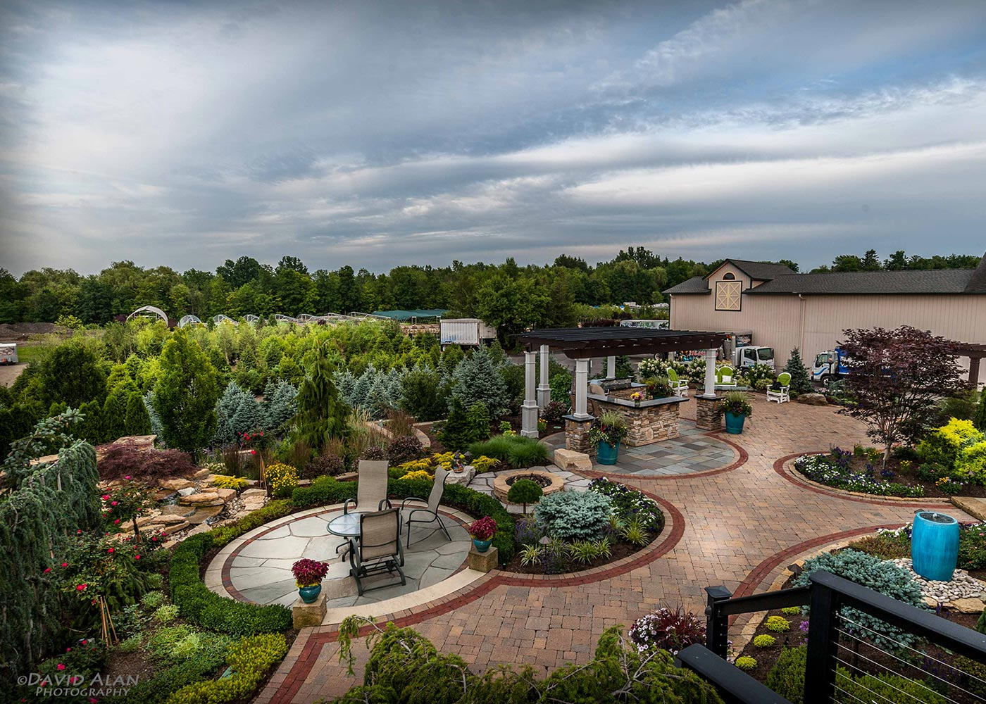 Aerial View Of Outdoor Landscape Design By The Bremec Group