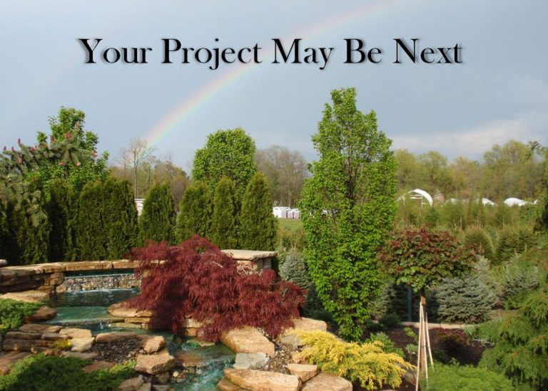 outdoor waterscape project by Bremec Garden Centers