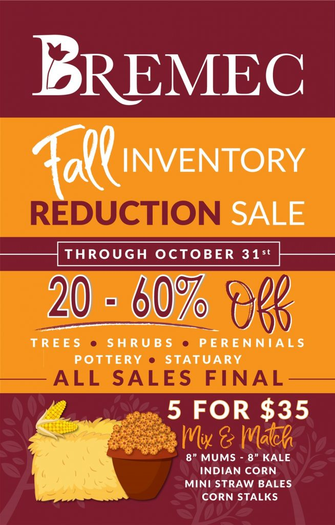 2020 Fall Inventory Reduction Sale