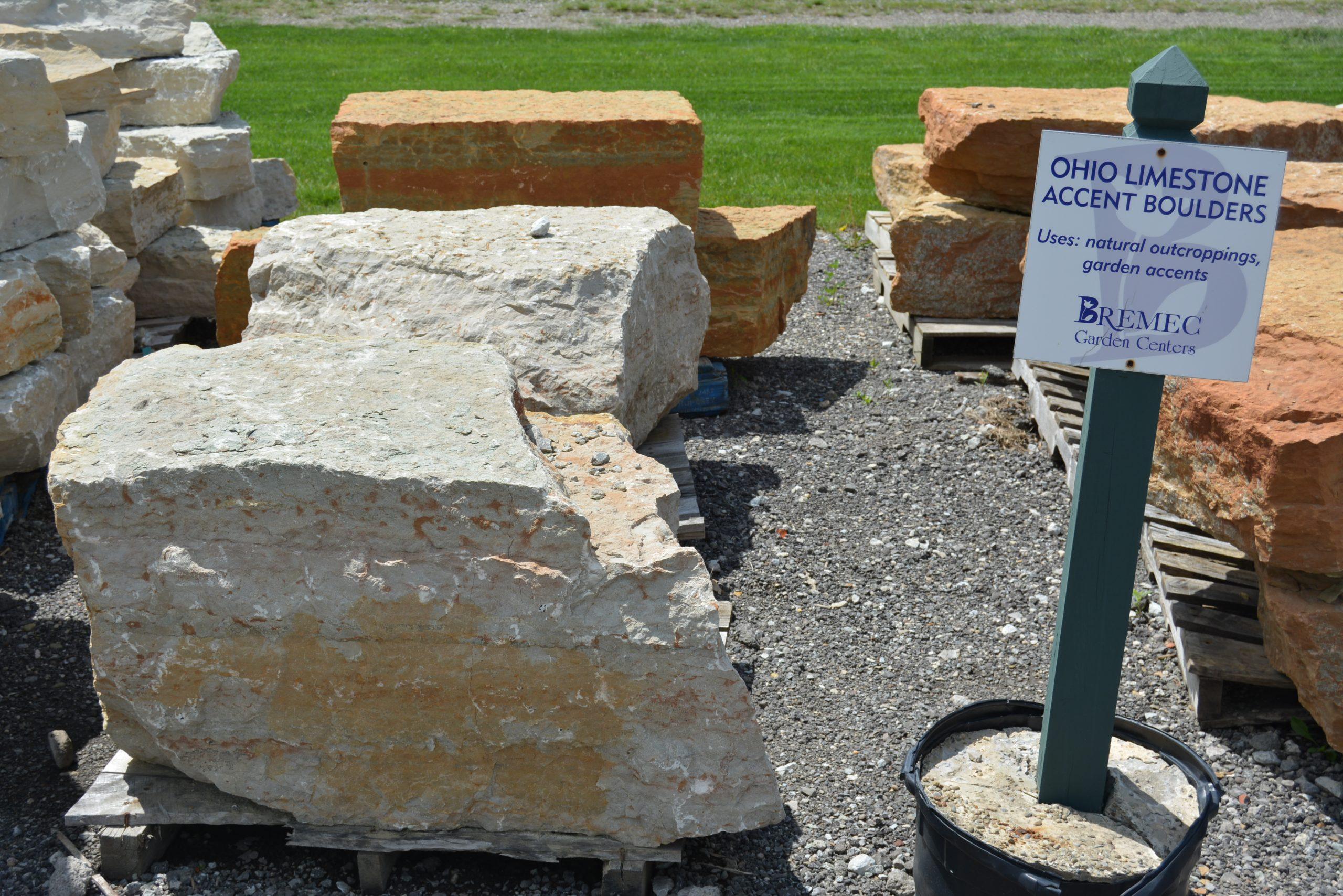 Ohio Limestone Accent Boulders