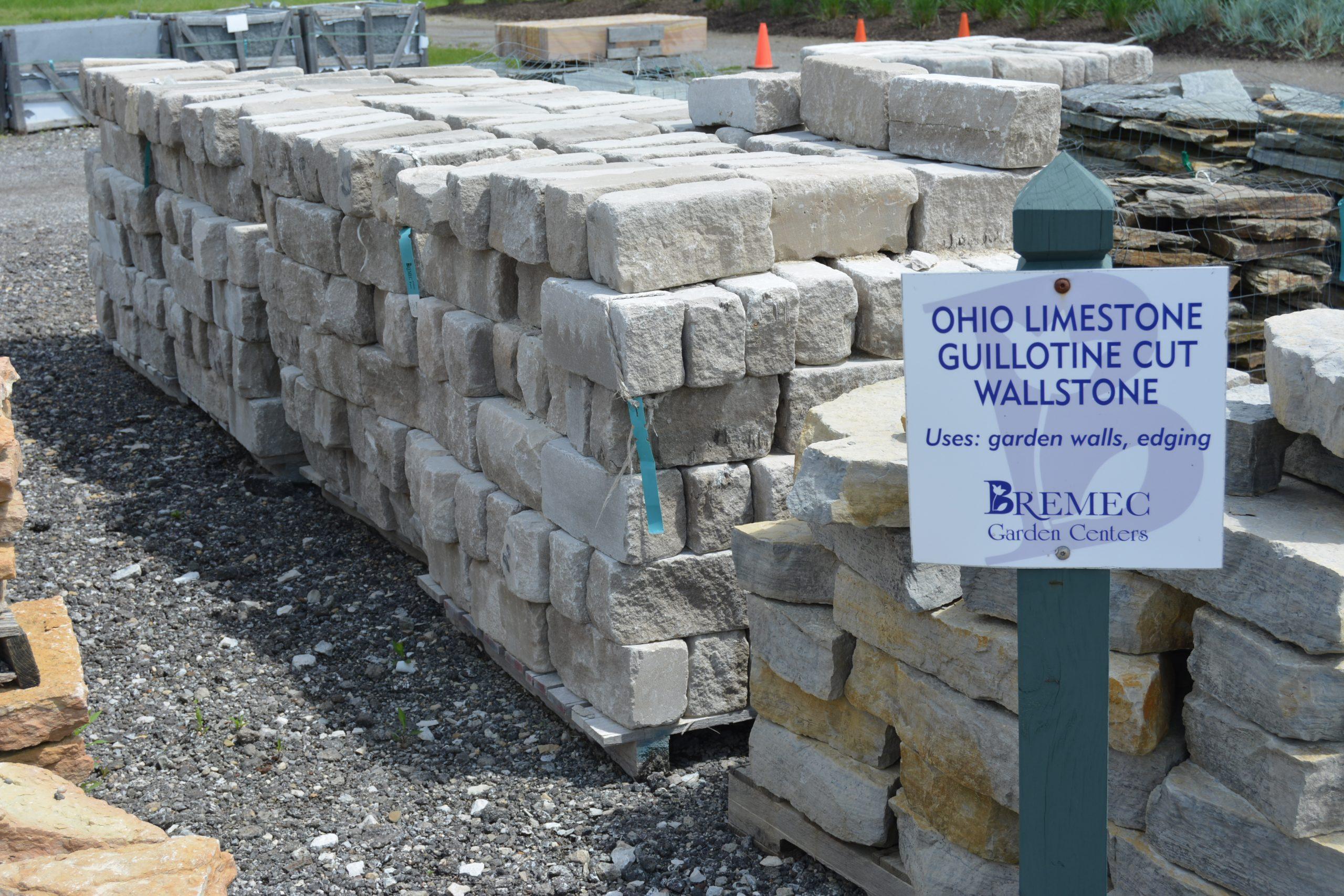 Ohio Limestone Guillotine Cut Wall Stone