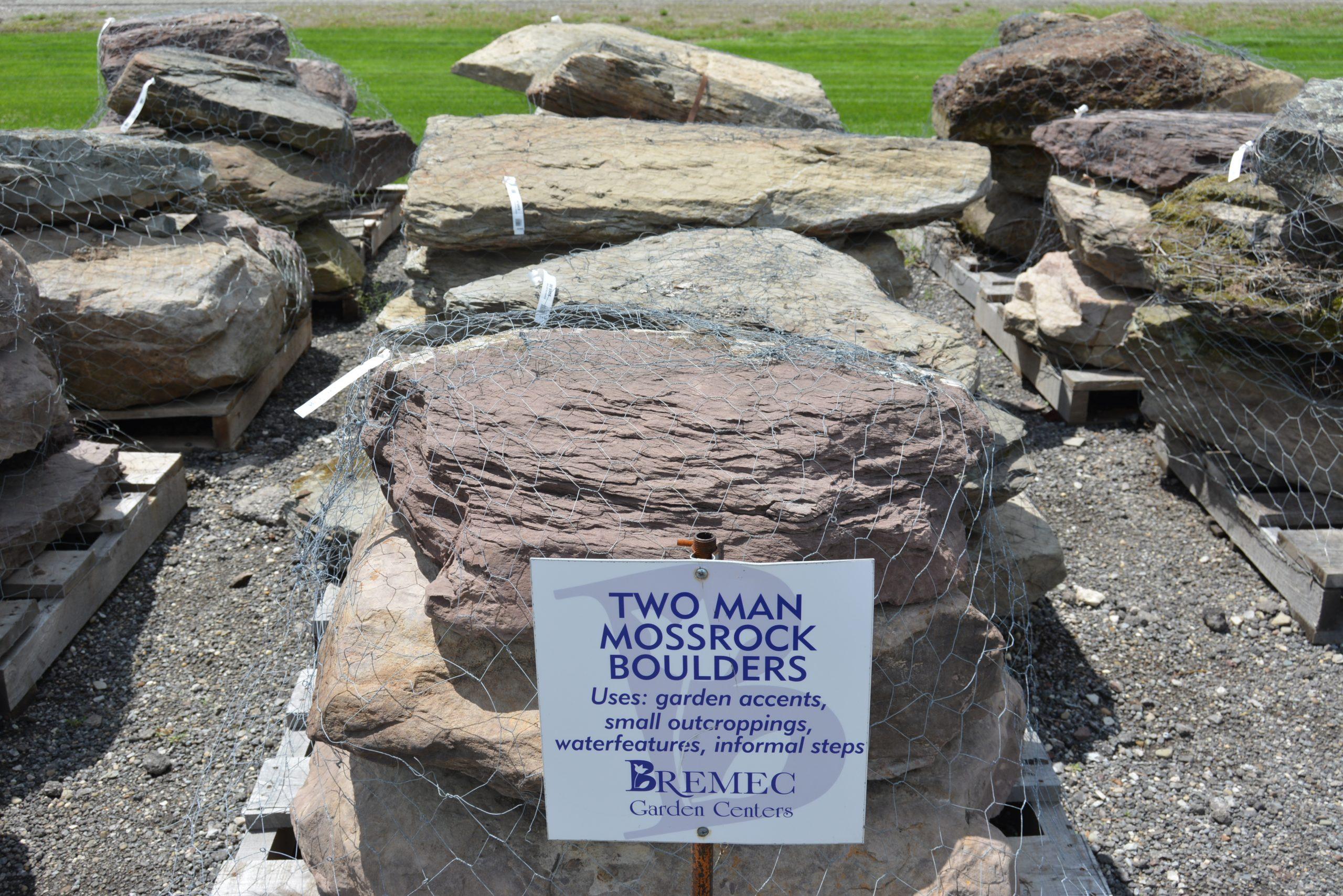 Two Man Moss Rock Boulders