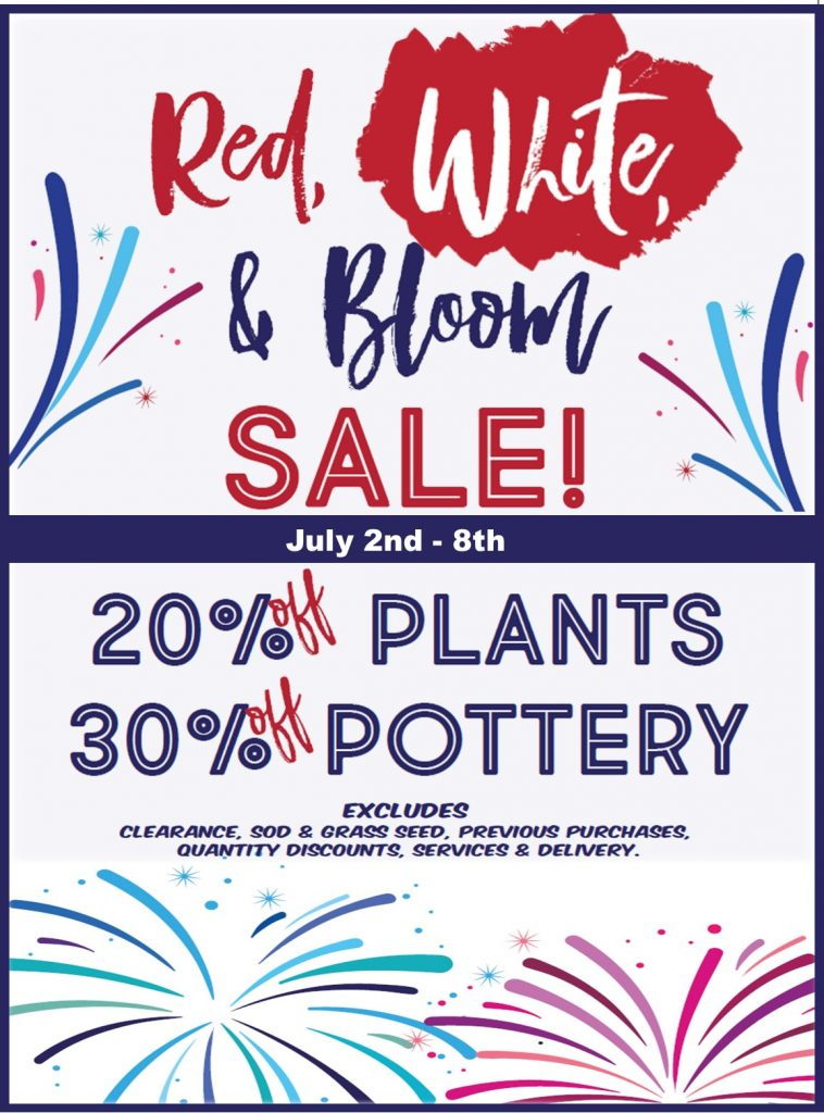 Red White and Bloom Sale Bremec
